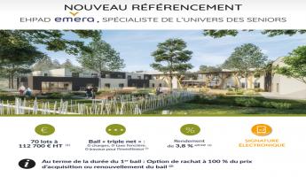 Investir LMNP Location Meublée Résidence EHPAD Saint Gervais les Trois Clochers